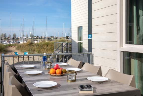 Terrasse eines Beach House | Roompot Beach Resort