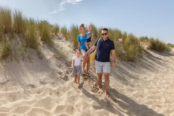 Familie am Strand | Roompot Beach Resort